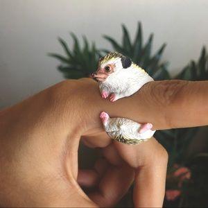 Adorable Hedgehog Ring